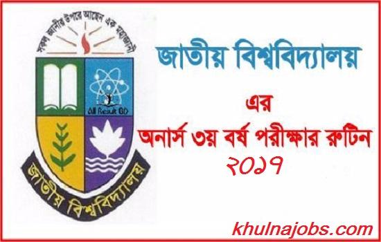 Honours 3rd Year Exam Routine 2017
