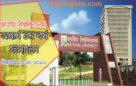NU Honours 1st Year Result 2017