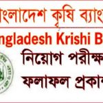 Bangladesh Krishi Bank Job Exam Result 2017