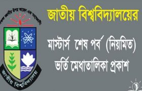 NU Masters Final Year Admission Result 2017