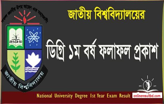National University Degree 1st Year Result 2017